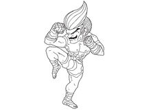 Muay Thai Boran : character cartoon 6 Royalty Free Stock Images