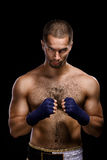 Muay thai boxer man Stock Image