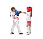 Muay thai boxningflicka Royaltyfri Fotografi