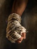 Muay thai. Chaiya fist warrior Thaiwarrior Royalty Free Stock Photos