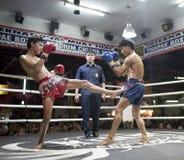 Muay Thai in Chiang Mai Stock Foto's