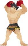 Muay Thai. De macht Royalty-vrije Stock Foto