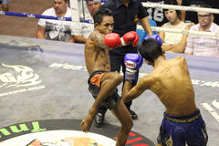 Muay Thai fight. Muay Thai competition at Bangla Boxing Stadium in Patong, Phuket, Thailand Stock Photography