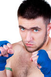 Muay Thai  fighter . Royalty Free Stock Photo