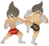 Muay Thai Fighting Royalty Free Stock Image