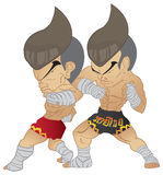 Muay Thai Fighting Stock Photo
