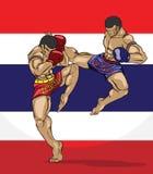 Muay thai. Kampsport Arkivbild