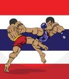 Muay Thai. Krijgsart. Stock Afbeeldingen