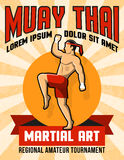 Muay Thai Martial Art Poster Stock Photo