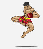 Muay thai. Martial art Royalty Free Stock Image