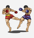 Muay thai. Martial art Stock Images