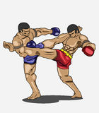 Muay thai. Martial art Royalty Free Stock Photos