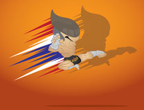 Muay thai martial art. Vector and illustration Stock Images