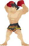 Muay Thai. The power Royalty Free Stock Photo
