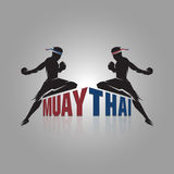 Muay thai sign. Design on gray background Royalty Free Stock Images