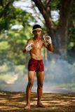 Muay thai or Thai boxing at Thailand Stock Photo