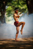 Muay thai or Thai boxing at Thailand Stock Images