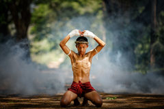 Muay thai or Thai boxing at Thailand Stock Photos