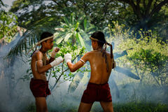 Muay thai or Thai boxing at Thailand Royalty Free Stock Photo