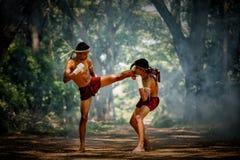 Muay thai or Thai boxing at Thailand Stock Image
