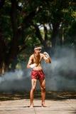 Muay thai or Thai boxing at Thailand. Muay thai or Thai boxing Thailand Royalty Free Stock Photos