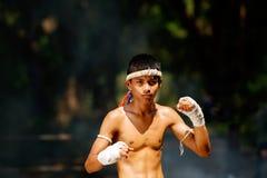 Muay thai or Thai boxing at Thailand. Muay thai or Thai boxing Thailand Royalty Free Stock Image