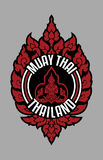 MUAY THAI TRADITIONAL BADGE THAILAND. This Muay Thai Badge use traditional shape that exist in almost traditional pattern in thailand Royalty Free Stock Photography