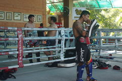 Muay Thai training at Fairtex Royalty Free Stock Photo
