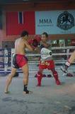 Muay Thai training at Fairtex. Fairtex Muaythai Training Centre in Pattaya, Thailand is state of the art training centre offering Muaythai and Combat Sports royalty free stock photo