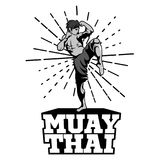 Muay Thai vector logo for boxing gym or other. Muay Thai Boxing vector logo for boxing gym or other Stock Image