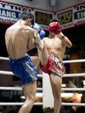 Muay thailändisches in Chiang Mai Lizenzfreie Stockfotografie