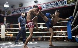 Muay thailändisches in Chiang Mai Stockfoto
