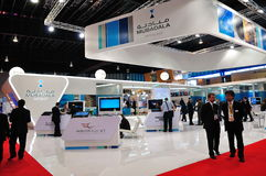Mubadala booth at Singapore Airshow Stock Photos