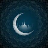 Mubarak f?r h?rlig eid religi?s bakgrund royaltyfri illustrationer