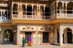 Mubarak Mahal in City Palace Complex in Jaipur, India Royalty Free Stock Image