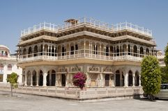 Mubarak Mahal in City Palace in Jaipur, India Royalty Free Stock Photo