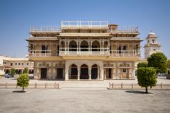 Mubarak Mahal in City Palace in Jaipur, India Stock Image