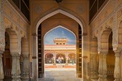 Mubarak Mahal dans le palais de ville de Jaipur, Ràjasthàn, Inde image stock
