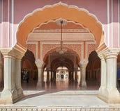 Mubarak Mahal en el palacio de la ciudad de Jaipur, Rajasthán, la India Foto de archivo libre de regalías