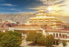 Mubarak Mahal im Jaipur-Stadt-Palast, Rajasthan, Indien Lizenzfreie Stockfotos