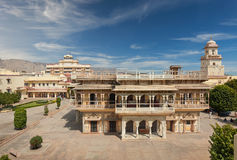 Mubarak Mahal in Jaipur City Palace, Rajasthan, India. Palace was the seat of the Maharaja of Jaipur, the head of the Kachwaha Rajput clan, India royalty free stock image