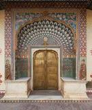 Mubarak Mahal no palácio da cidade de Jaipur, Rajasthan, Índia Foto de Stock
