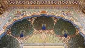 Mubarak Mahal no palácio da cidade de Jaipur, Rajasthan, Índia Fotos de Stock