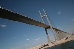Mubarak Peace Bridge. The Suez Canal Bridge, also known as the Mubarak Peace Bridge or the Egyptian-Japanese Friendship Bridge Stock Photography