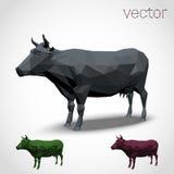Mucca astratta poligonale Fotografia Stock
