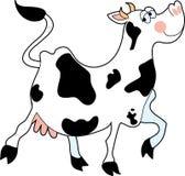 Mucca che Prancing illustrazione vettoriale