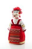 Mucca in costume tradizionale russo Immagine Stock Libera da Diritti
