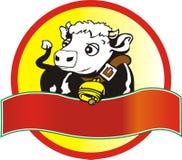 Mucca di latte Fotografie Stock