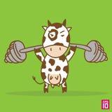 Mucca disegnata a mano illustrazione di stock