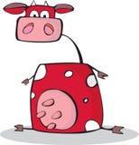 Mucca divertente del fumetto Immagini Stock